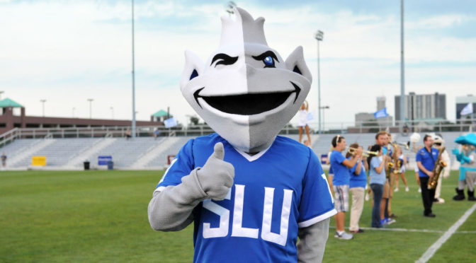 The new mascot for the Saint Louis University Billikens.