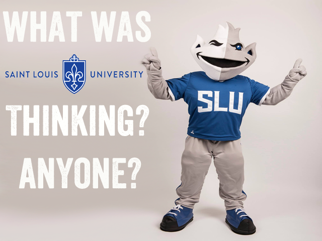The new Billiken mascot unveiled by Saint Louis University last night is awful.
