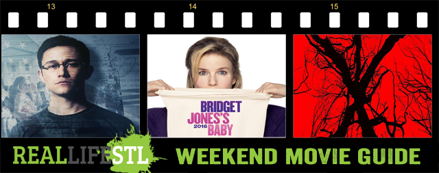 Snowden, Bridget Jones's Baby and Blair Witch in movie theaters this weekend.