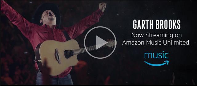 Garth Brooks on Amazon Music Unlimited