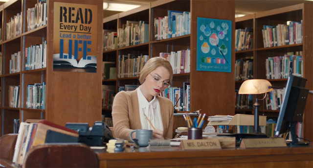 Librarian Margot Robbie