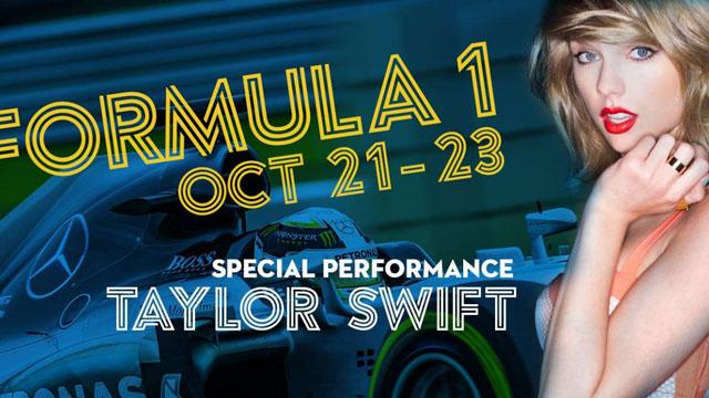 Taylor Swift Formula 1 concert