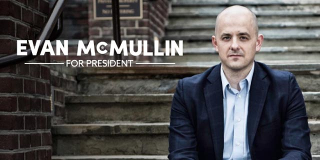 Evan McMullin is an independent candidate for President of the United States in the 2016 election. He is an official write-in candidate in Missouri.