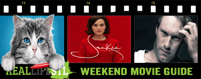 Jackie, starring Natalie Portman, opens in movie theaters this weekend. Incarnate also opens.