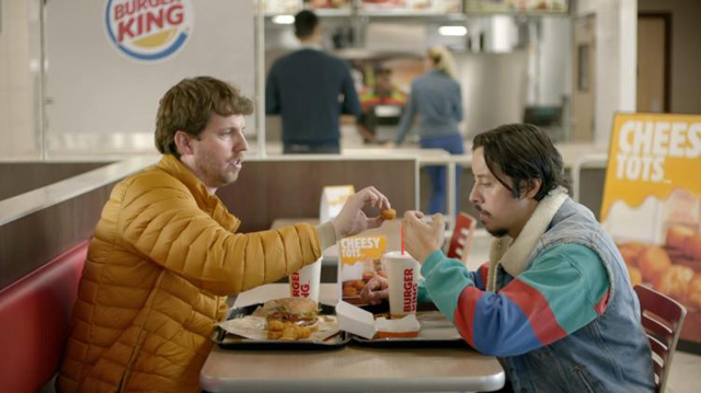 Jon Heder and Efren Ramirez reunited to film this Napoleon Dynamite themed commercial for Burger King.