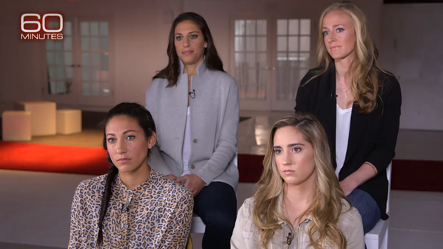 U.S. Women's National Team on 60 Minutes to discuss wage discrimination