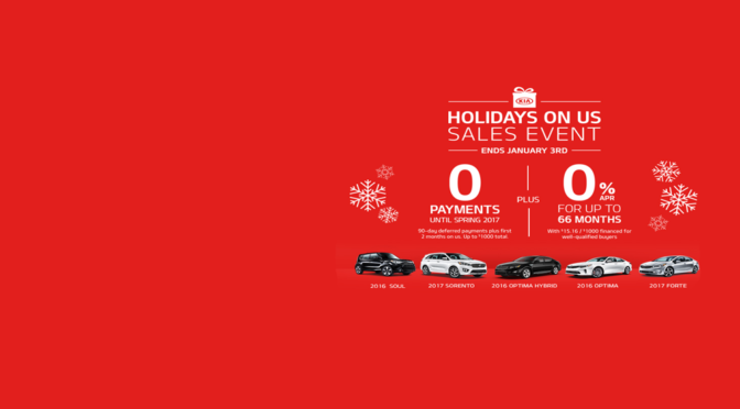 Hurry To Take Advantage of 2016 Year-End Deals From Auto Dealerships