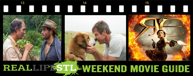 A Dog's Purpose, Gold, and Resident Evil: The Final Chapter open in movie theaters this weekend.
