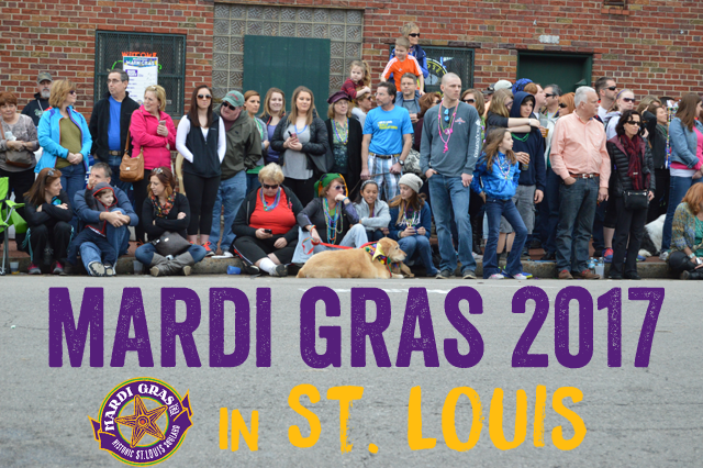 Mardi Gras 2017 in St. Louis calendar including Taste of Soulard, Pet Parade and Grand Parade Day.