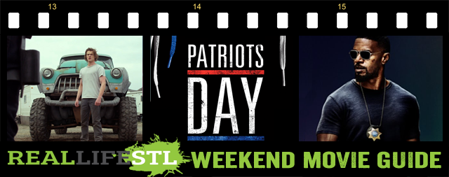 Patriots Day, Monster Trucks and Sleepless open in movie theaters around St. Louis this weekend.