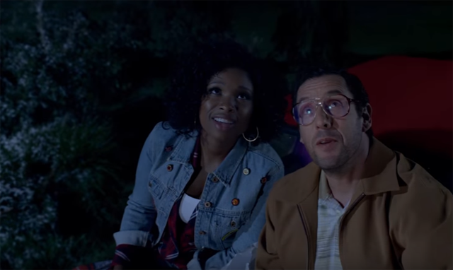 Adam Sandler and Jennifer Hudson star in Sandy Wexler, coming to Netflix on April 14, 2017.