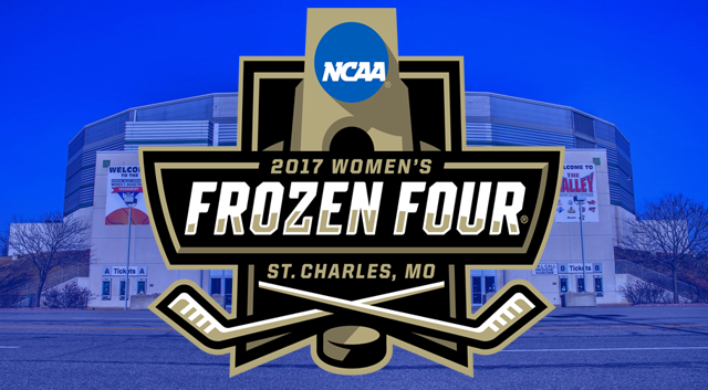 The 2017 Women's Frozen Four takes place in St. Charles, Missouri this weekend.
