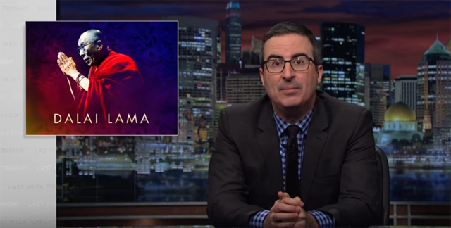 The Dalai Lama recently joined John Oliver on Last Week Tonight.