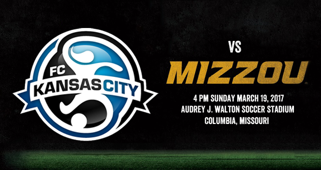 FC Kansas City travels on the University of Missouri-Columbia this Sunday for a preseason match versus Mizzou.