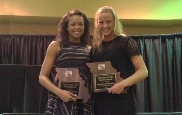 Napheesa Collier & Sophie Cunningham 2015 Miss Show-Me Basketball award