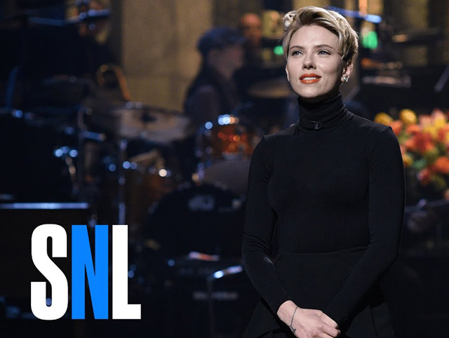 Scarlett Johansson hosted Saturday Night Live over the weekend.