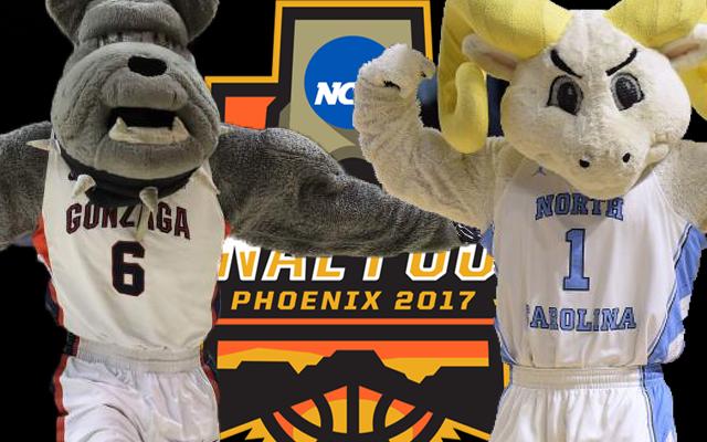 Gonzaga and North Carolina play tonight for the 2017 NCAA men's basketball national championship.