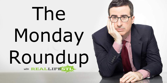 The Monday Roundup from RealLifeSTL featuring John Oliver, Saint Louis FC, United Airlines, Blues, Cardinals and more.