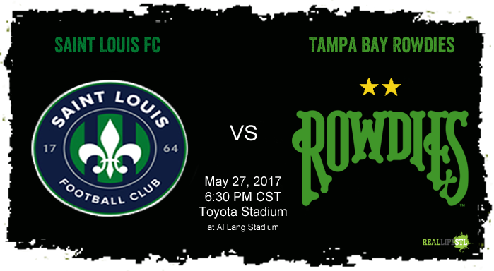 Saint Louis FC plays the Tampa Bay Rowdies in Tampa Bay on Saturday May 27, 2017 in a USL match.