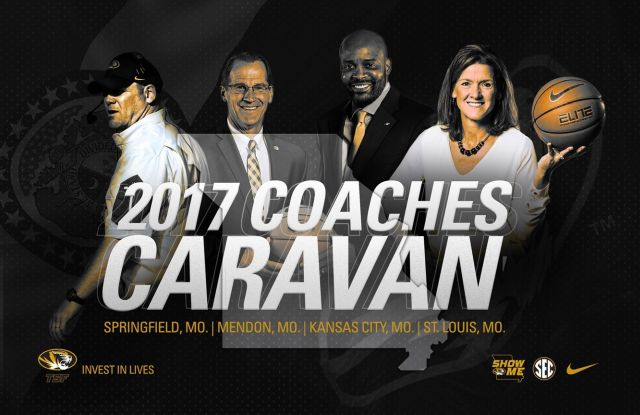 The 2017 Mizzou Coaches Caravan will stop in St. Louis on Friday, May 19 at Ballpark Village in downtown St. Louis.