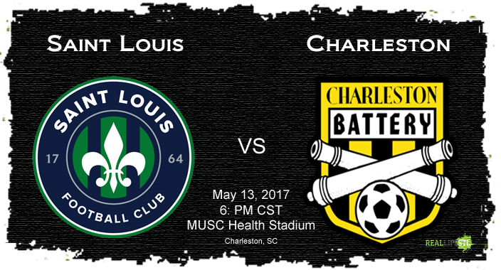 Saint Louis FC travels to South Carolina this Saturday to face the Charleston Battery in a United Soccer League match.