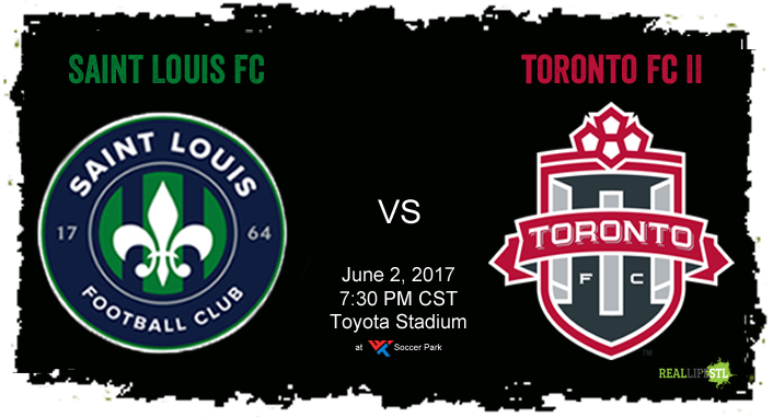 Saint Louis FC welcomes Toronto FC II to Toyota Stadium on Friday June 2, 2017 for a USL match,.