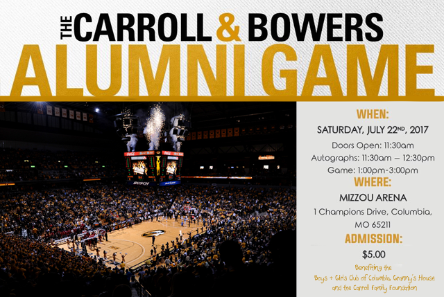 Laurence Bowers and DeMarre Carroll are planning a Mizzou Alumni Basketball game for July 22 at Mizzou Arena.