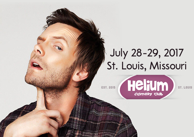 Joel McHale comes to St. Louis this weekend for four shows at Helium Comedy Club.
