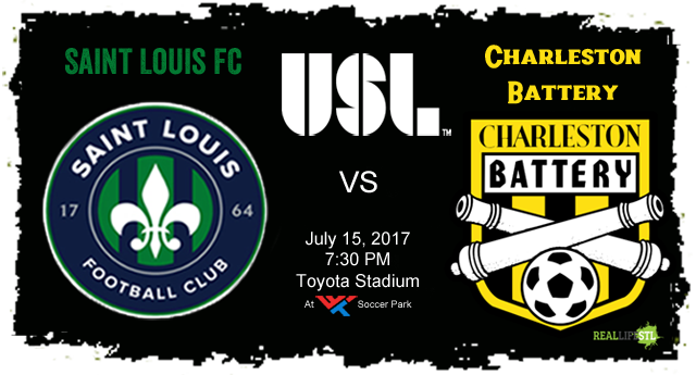 Saint Louis FC will host the Charleston Battery in a United Soccer match on July 15, 2017 at Toyota Stadium at World Wide Technology Soccer Park in St. Louis.