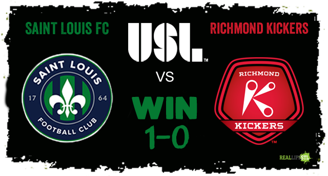 Saint Louis FC beat the Richmond Kickers 1-0 on Saturday July 29, 2017 in Richmond, Virginia.