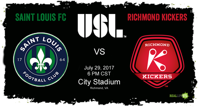 Saint Louis FC takes on the Richmond Kickers on July 29, 2017 in Richmond, Virginia in a United Soccer League match.
