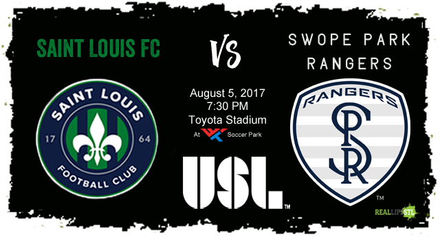 Saint Louis FC hosts the Swope Park Rangers on Saturday, August 5, 2017 at Soccer Park in St. Louis.