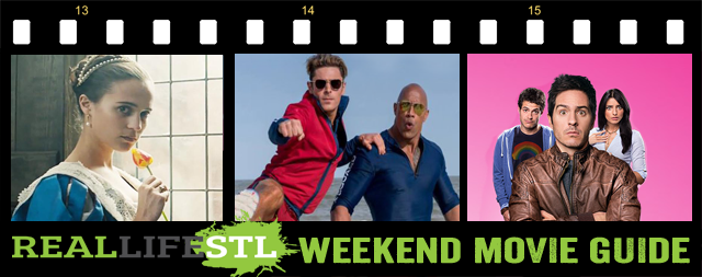 Tulip Fever and Hazlo Como Hombre open in movie theaters and Baywatch is now available at Redbox. It's the Weekend Movie Guide from RealLifeSTL.