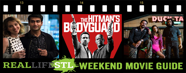 The Hitman's Bodyguard and Logan Lucky open in movie theaters this weekend across St. Louis. They highlight the Weekend Movie Guide from RealLifeSTL.