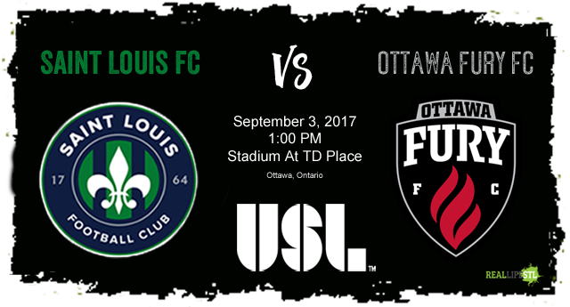 Saint Louis FC takes on Ottawa Fury FC on Sunday, September 3 in Ottawa.