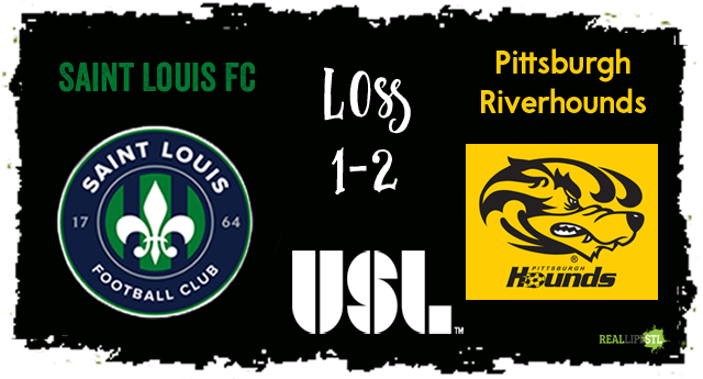 The Pittsburgh Riverhounds defeated Saint Louis FC 2-1 in a USL match on August 19, 2017 in St. Louis.