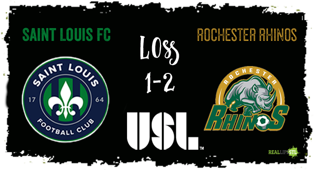 Saint Louis FC fell to the Rochester Rhinos 2-1 on August 26 in Rochester.