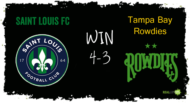 Saint Louis FC beat the Tampa Bay Rowdies 4-3 on Sunday August 13 in St. Louis.