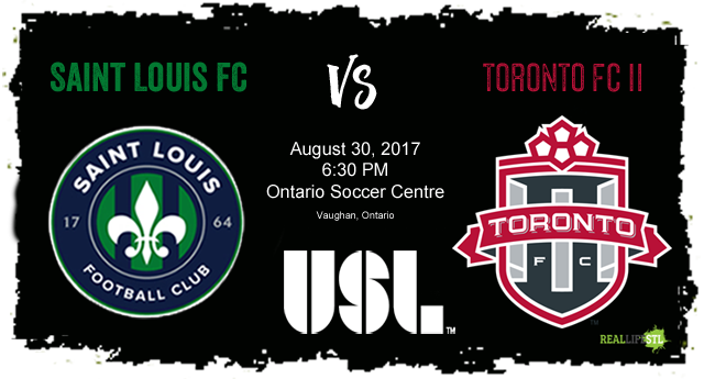 Saint Louis FC takes on Toronto FC II on August 30, 2017 in a United Soccer League match. The match will be held at Ontario Soccer Centre in Vaughn, Ontario.
