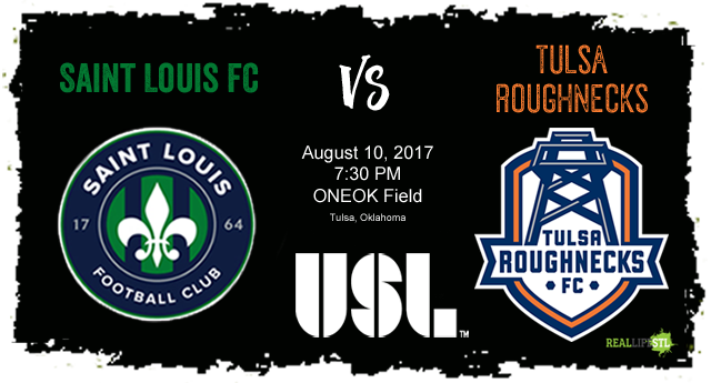 Saint Louis FC takes on the Tulsa Roughnecks in a Thursday night USL matchup on August 10 in Tulsa.