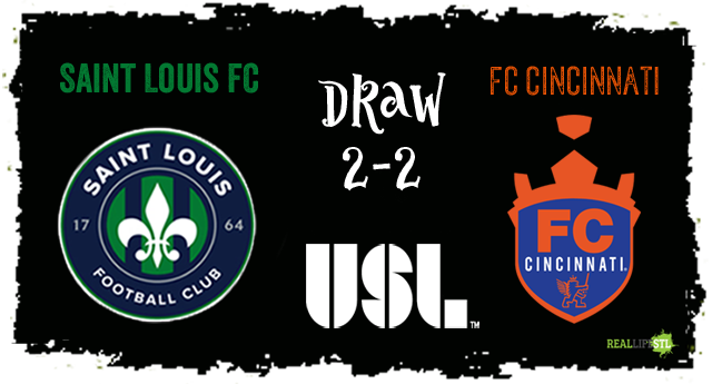 Saint Louis FC and FC Cincinnati played to a 2-2 draw on September 23, 2017 in St. Louis.