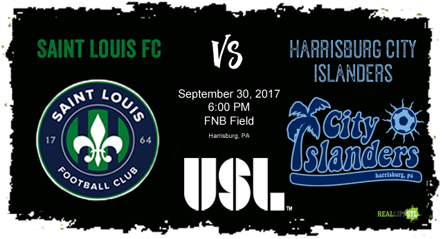 Saint Louis FC takes on the Harrisburg City Islanders in Pennsylvania on September 30, 2017 in a United Soccer League match.
