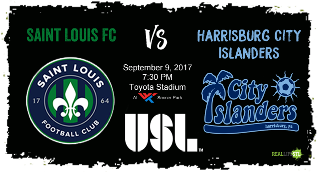 Saint Louis FC takes on the Harrisburg City Islanders on Saturday, September 9 in St. Louis.