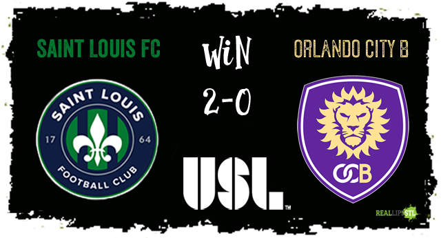 Saint Louis FC beat Orlando City B 2-0 on Saturday September 16, 2017 in St. Louis.