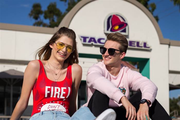 Taco Bell and Forever 21 are partnering together to release a Taco Bell clothing line. Brittany Creech, a St. Louis model, is featured in promotional photos for the line.