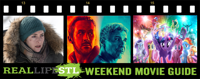 Blade Runner 2049, The My Little Pony Movie and The Mountain Between Us open in movie theaters this weekend. It's the Weekend Movie Guide from RealLifeSTL.