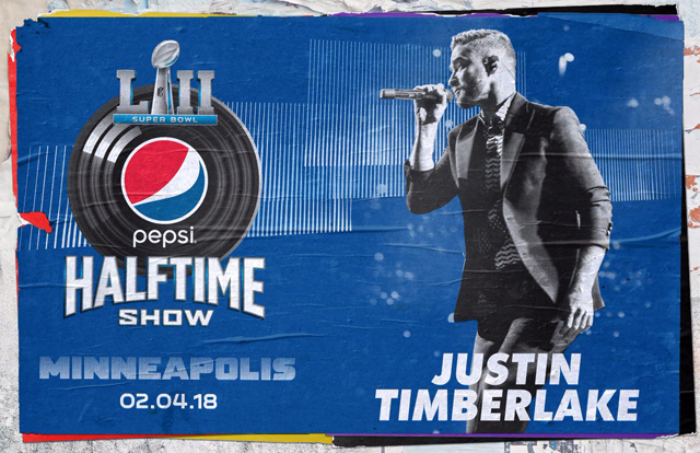 Justin Timberlake will headline the Super Bowl LII half time show on February 4, 2018 in Minneapolis, Minnesota. Image Credit: NFL