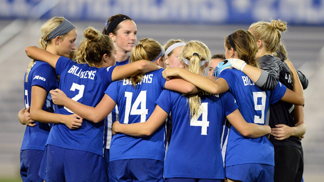 The Saint Louis University women's soccer team will begin the 2017 Atlantic 10 Conference Women's Soccer Championship this Saturday at home against Saint Joseph's. Photo: Saint Louis University Athletics
