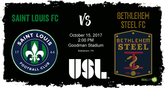 Saint Louis FC takes on Bethlehem Steel FC on October 15 in the final match of the 2017 USL season.