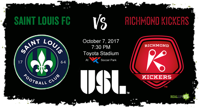 Saint Louis FC takes on the Richmond Kickers on Saturday October 7 in the 2017 home finale